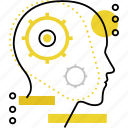 brain, head, human, mind, process, think, thinking icon