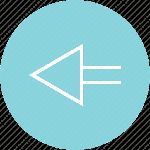 arrow, back, menu, online icon