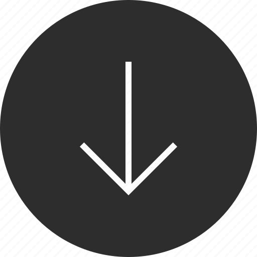 arrow, down, online icon