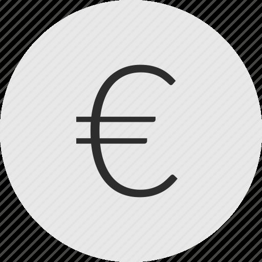euro, online, sign icon
