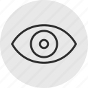 eye, look, online icon