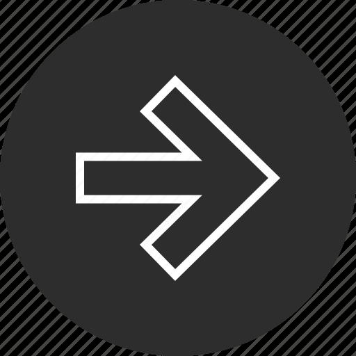 forward, menu, online icon
