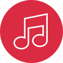 music, note, online icon