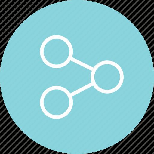 analyze, menu, nav, share icon