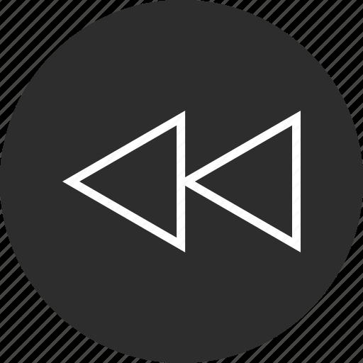 back, online, rewind icon