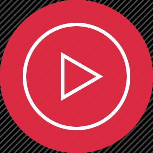 menu, play, video icon