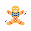 biscuit, christmas, cookie, cookies, gingerbread, gingerbread man, man icon