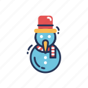 celebration, christmas, decoration, snow, snowman, winter, xmas icon