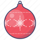 christmas, ball, decoration, new year icon