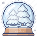 christmas, ball, crystal, snow icon