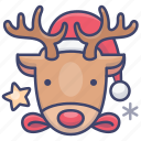 reindeer, christmas, deer icon