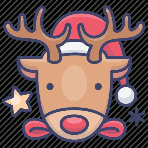 Christmas, deer, reindeer icon - Download on Iconfinder