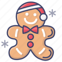 gingerbread, christmas, xmas icon