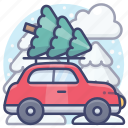 car, christmas, eve, holiday icon