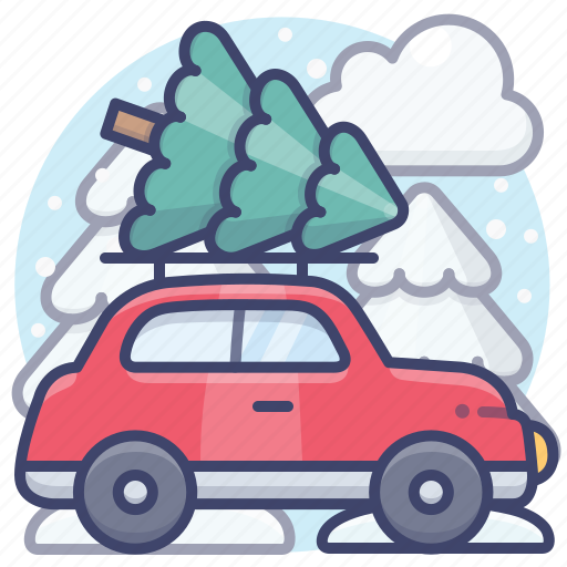 Car, christmas, eve, holiday icon - Download on Iconfinder
