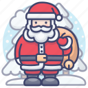 christmas, claus, xmas, santa icon