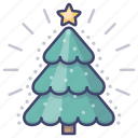 christmas, xmas, tree icon