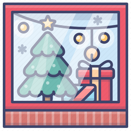 Christmas, shopping, store, window icon - Download on Iconfinder