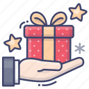 christmas, gift, holiday, present icon
