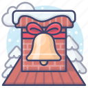 chimney, christmas, holiday icon