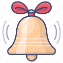 bell, christmas, holiday icon