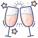 celebration, cheers, party icon