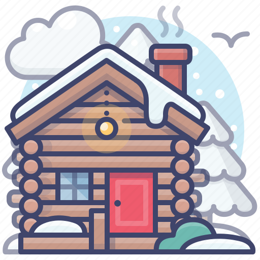 Cabin, house, vacation, winter icon - Download on Iconfinder