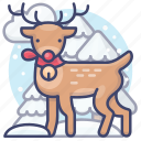 christmas, deer, reindeer, winter icon
