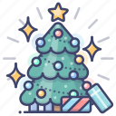 christmas, new year, tree, xmas icon