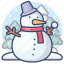 christmas, new year, snowman, winter icon