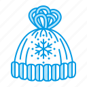 christmas, hat, winter icon