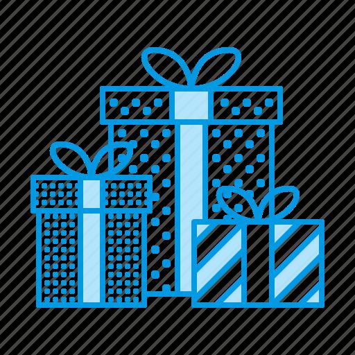 birthday, box, christmas, gifts, presents icon
