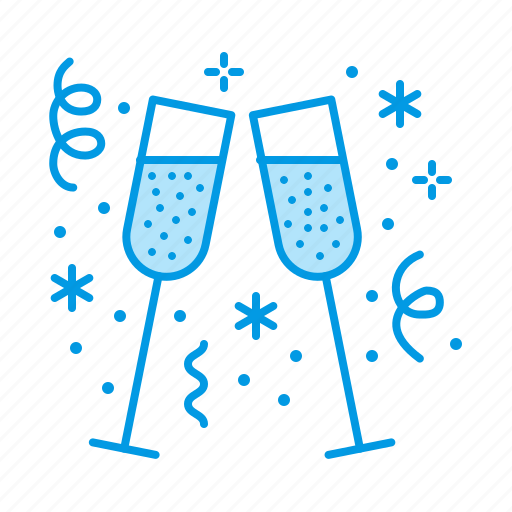 celebration, champagne, christmas, sparkling, wine icon