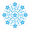 christmas, firework, salute icon