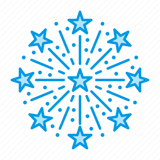 christmas, firework, salute icon