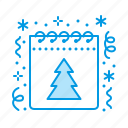 calendar, christmas, new, year icon