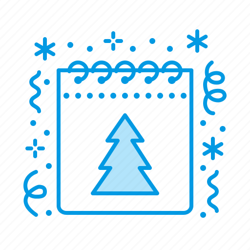 calendar, christmas, new, year icon