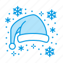 christmas, hat, santa icon