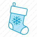 christmas, gift, presents, sock icon