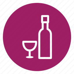 bottle, cup, drinks, glass, wine icon