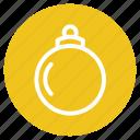 ball, bulb, christmas, decoration icon