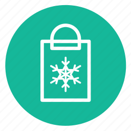 christmas, gift, handbag, present, snowflake icon
