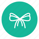 christmas, decoration, flowers, ribbons icon