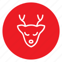 animal, antelope, christmas, dear, santa, winter, xmass icon