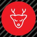 animal, antelope, christmas, dear, winter, xmass icon