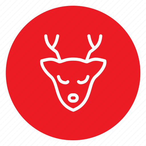 animal, antelope, christmas, dear, winter, xmass icon