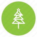 christmas, festive, santa, tree icon
