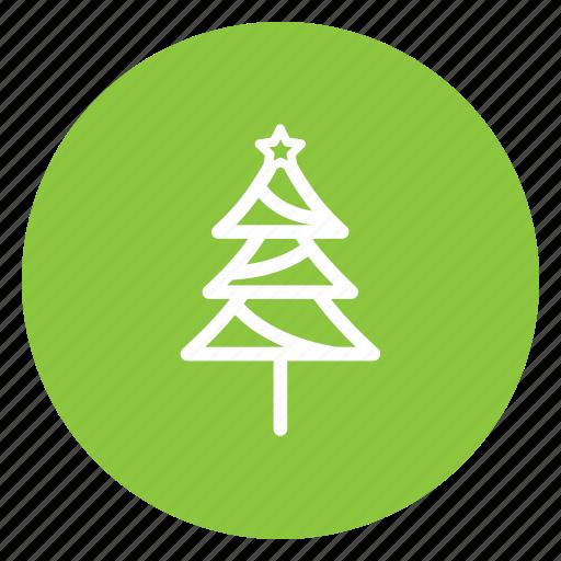 christmas, festive, santa, tree icon