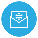 email, envelope, mail, open, postal, snow icon