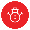 christmas, flakes, snowman, toy icon